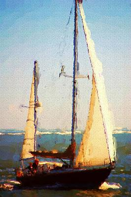 Sailing At Daytona Poster by David Lane