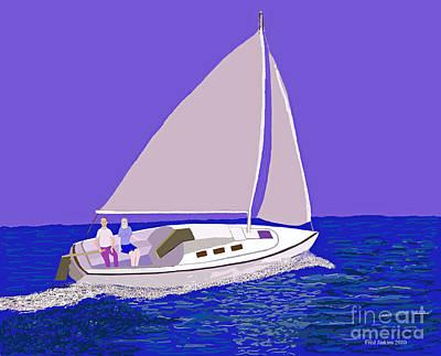 Sailing Blue Ocean Poster