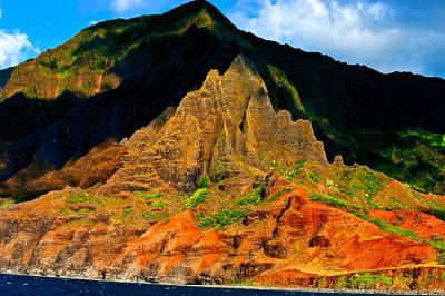 Sailing By Kauai Poster