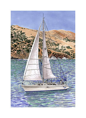 Sailing Catalina Island Sailing Sunday Poster by Jack Pumphrey
