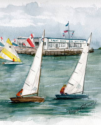 Sailing Class  Poster by Nancy Patterson