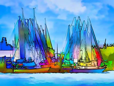 Sailing Club Abstract Poster by Pamela Blizzard