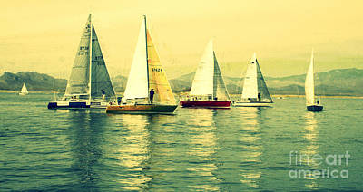 Poster featuring the photograph Sailing Day Regatta 2 by Julie Lueders