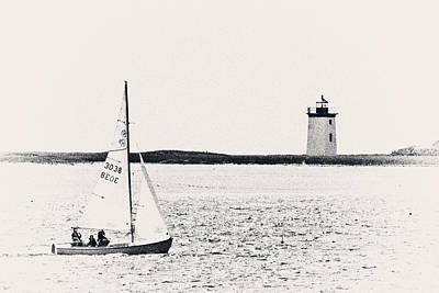 Sailing In Cape Cod Poster by Karol Livote