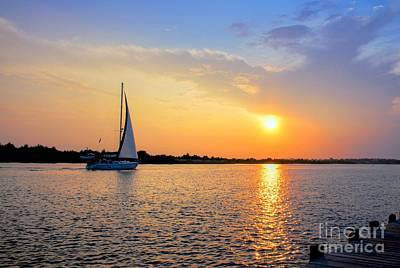 Sailing Into The Sunset Poster by Benanne Stiens