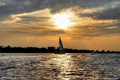 Sailing Into The Sunset Poster by Debra Forand