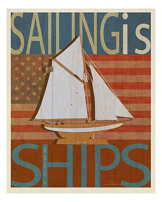 Sailing Is Model Ships Columbia Poster by Joost Hogervorst