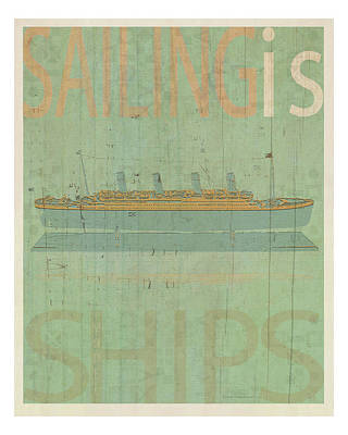 Sailing Is Titanic Model Poster