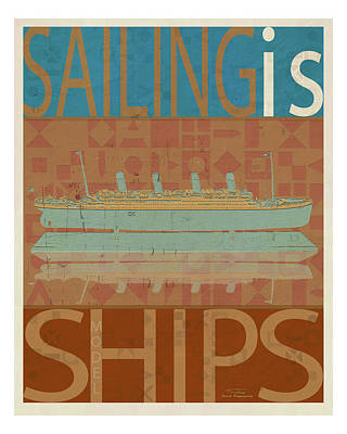 Sailing Is Titanic Model On Brown Poster