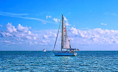 Sailing Off Of Key Largo Poster