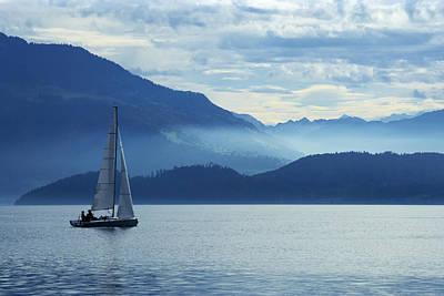 Sailing On Lake Zug Poster
