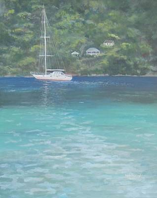 Sailing On The Caribbean Poster