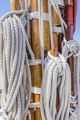 Poster featuring the photograph Sailing Rope 4 by Leigh Anne Meeks