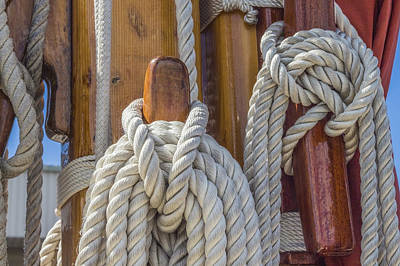 Poster featuring the photograph Sailing Rope 5 by Leigh Anne Meeks
