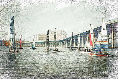 Sailing Sketch Photo Poster
