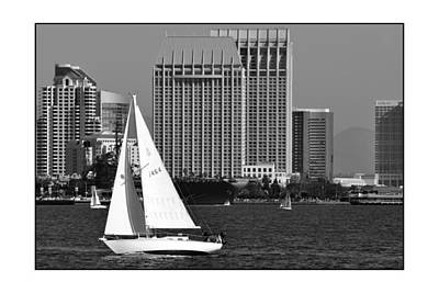 Poster featuring the digital art Sailing To Work by Kirt Tisdale
