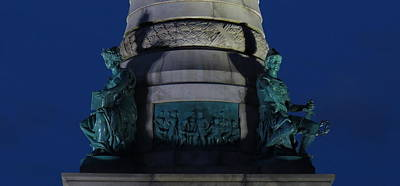 Sailors And Soldiers Monument By Night Poster by Stephen Melcher