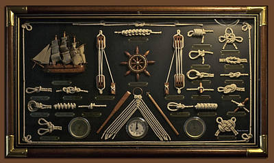Sailors Rope Knots Poster