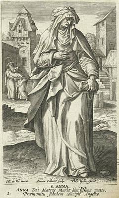 Saint Anna, Adriaen Collaert, Philips Galle Poster by Adriaen Collaert And Philips Galle And Cornelis Kiliaan