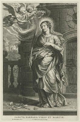 Saint Barbara As Martyr Poster