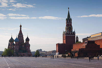 Saint Basils Cathedral And Kremlin Poster by Panoramic Images