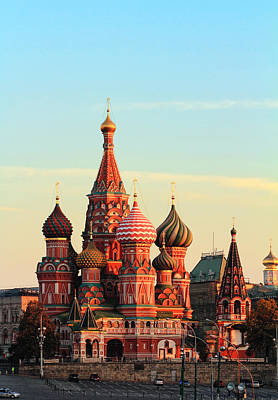 Saint Basils Cathedral On Red Square Poster by Alex Sukonkin