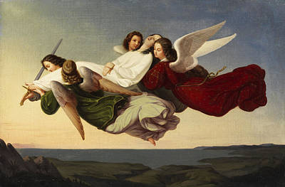 Saint Catherine And Angels Poster by Heinrich Mucke