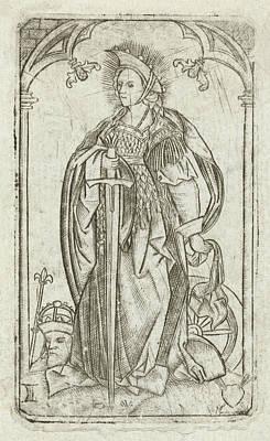 Saint Catherine, Meester Met Het Doorstoken Hart Poster by Litz Collection