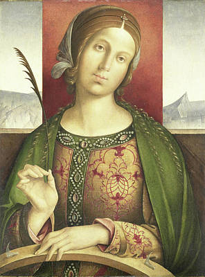 Saint Catherine Of Alexandria, Attributed To Francesco Poster by Litz Collection