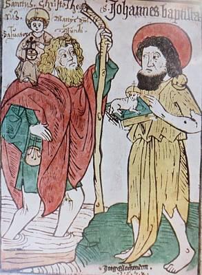 Saint Christopher And Saint John The Baptist Poster