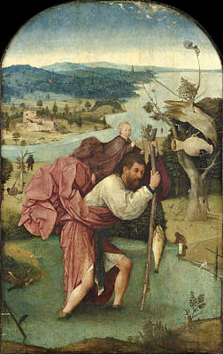Saint Christopher Poster by Hieronymus Bosch