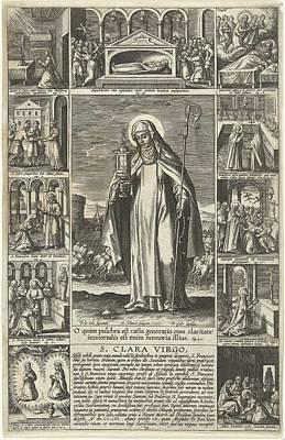Saint Clare, Adriaen Collaert, Theodoor Galle Poster by Adriaen Collaert And Theodoor Galle