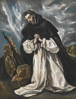 Saint Dominic In Prayer Poster
