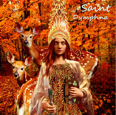 Saint Dymphna Poster by Suzanne Silvir