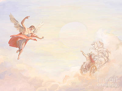 Saint Elijah Ascending Poster by John Alan  Warford