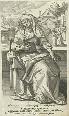 Saint Elizabeth, Jan Collaert II, Philips Galle Poster by Jan Collaert (ii) And Philips Galle And Cornelis Kiliaan