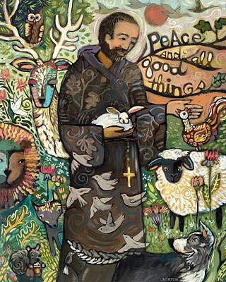 Saint Francis Poster by Jen Norton