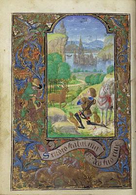 Saint Hubert Lieven Van Lathem, Flemish, About 1430 - 1493 Poster