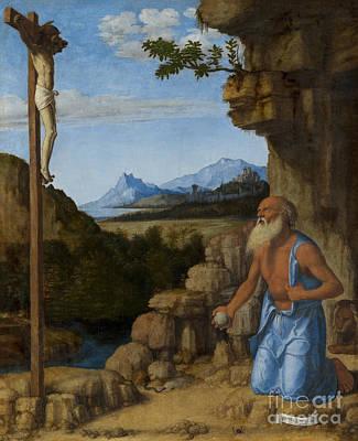Saint Jerome In The Wilderness Poster by Giovanni Battista Cima da Conegliano