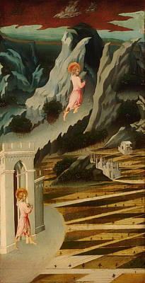 Saint John The Baptist Entering The Wilderness Poster by Mountain Dreams