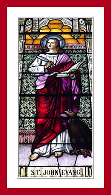 Saint John The Evangelist Stained Glass Window Poster by Rose Santuci-Sofranko