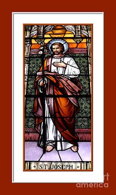 Saint Joseph  Stained Glass Window Poster