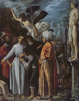 Saint Lawrence Prepared For Martyrdom, C. 1600-1 Oil On Copper Poster