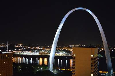 Poster featuring the photograph Saint Louis Skyline And Jefferson Expansion Arch by Jeff at JSJ Photography