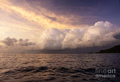 Poster featuring the photograph Saint Lucian Sunset by Rafael Quirindongo
