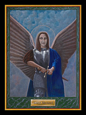 Saint Michael Poster by Mr Dill