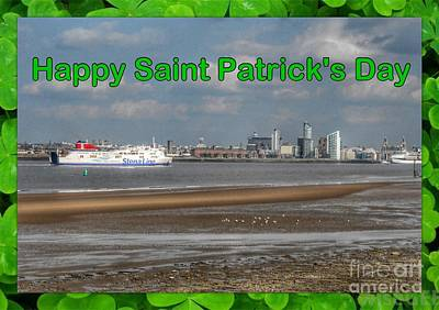 Saint Patrick's Greeting Across The Mersey Poster