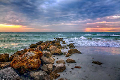 Saint Pete Beach Stormy Sunset Poster