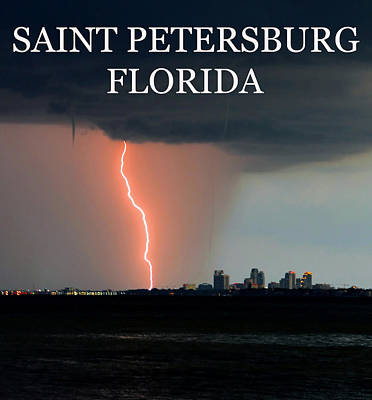 Saint Pete Florida Weather Work A Poster by David Lee Thompson
