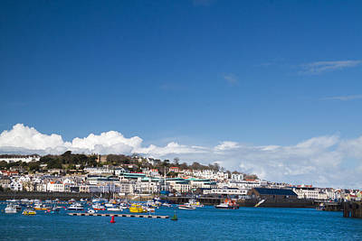 Saint Peter Port Marina Guernsey Poster by Chris Smith